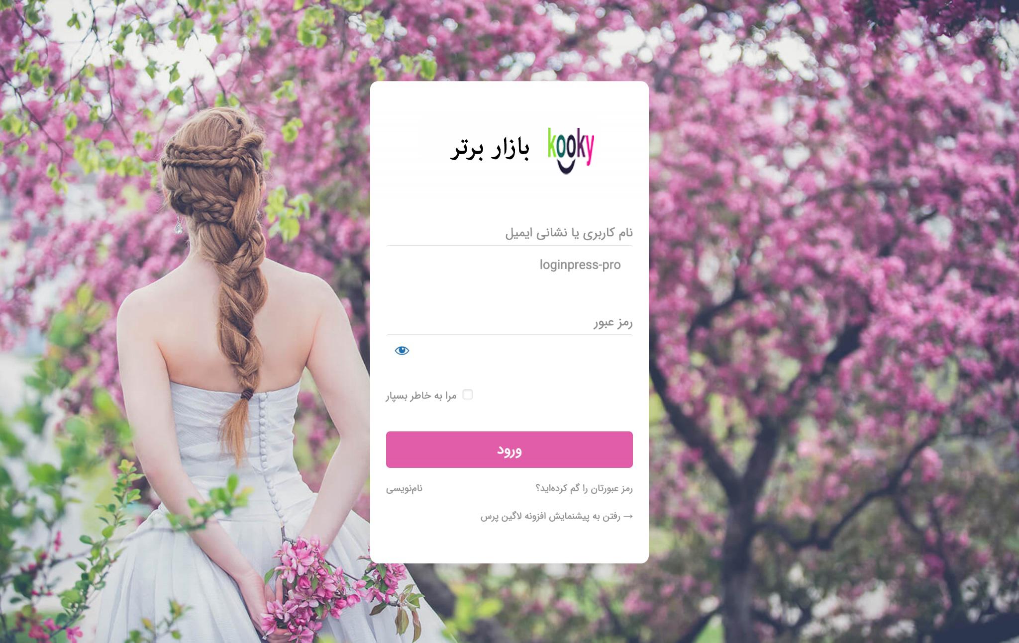 سفارشی سازی صفحه ورود وردپرس | افزونه LoginPress Pro